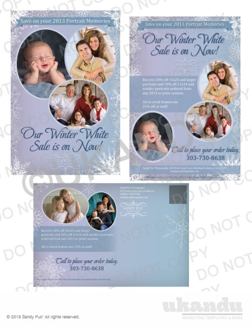 Sandy Puc' University October Template - Winter White Sale